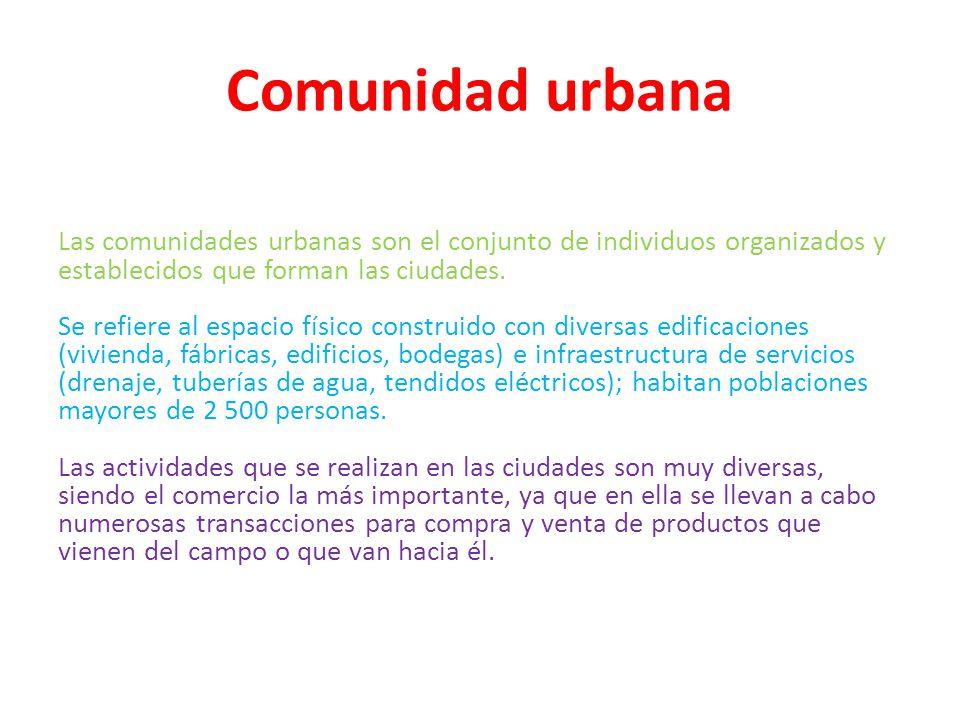 Comunidad urbana
