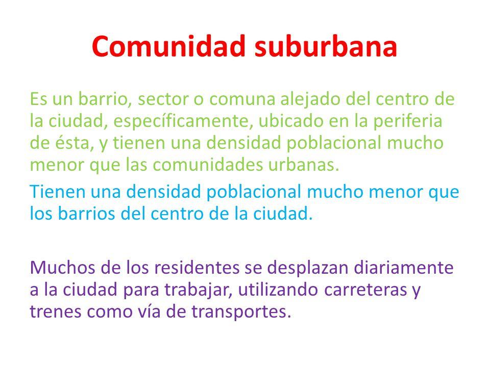 Comunidad suburbana