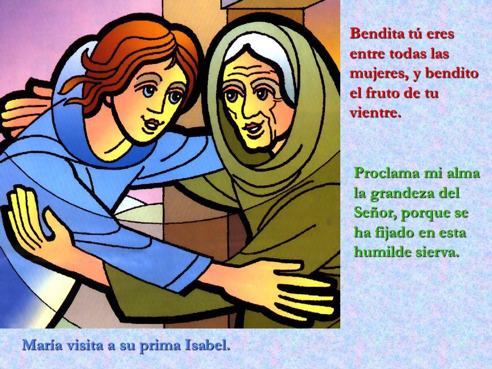 Bendita tú eres entre todas las mujeres, y bendito el fruto de tu vientre.