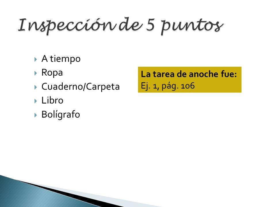 Inspección de 5 puntos A tiempo Ropa Cuaderno/Carpeta Libro Bolígrafo