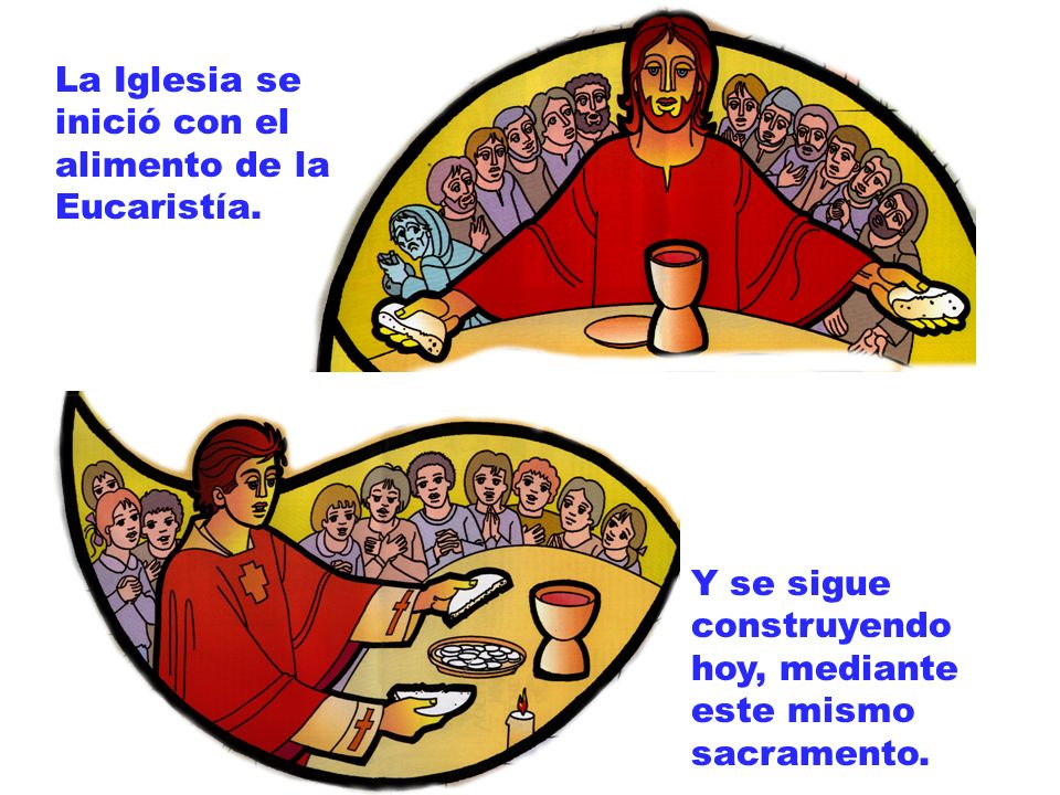 La Iglesia se inició con el alimento de la Eucaristía.