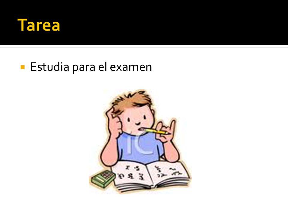 Tarea Estudia para el examen