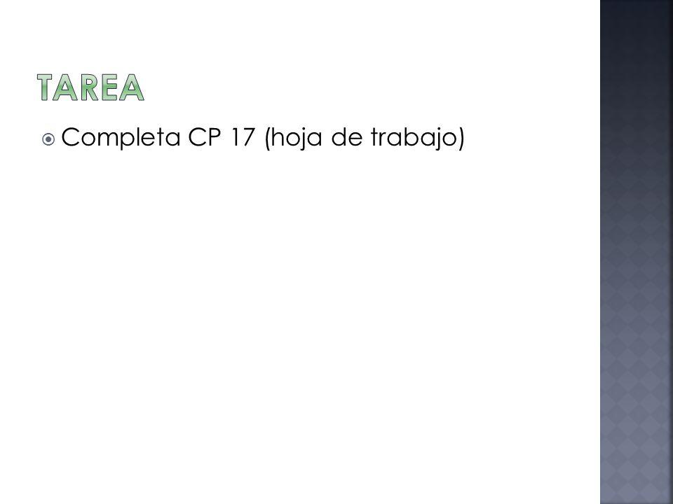 Tarea Completa CP 17 (hoja de trabajo)