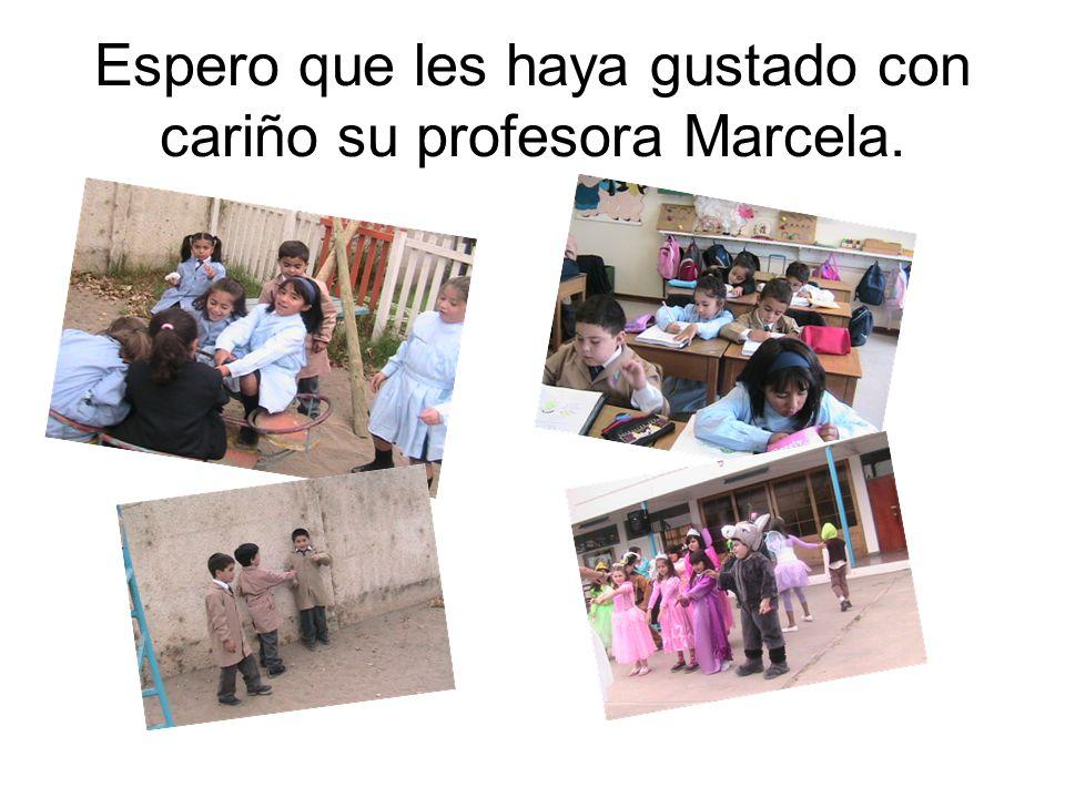Espero que les haya gustado con cariño su profesora Marcela.