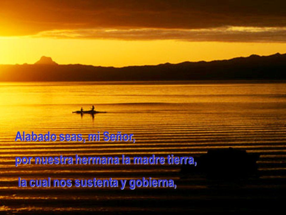 Alabado seas, mi Señor, por nuestra hermana la madre tierra, la cual nos sustenta y gobierna,