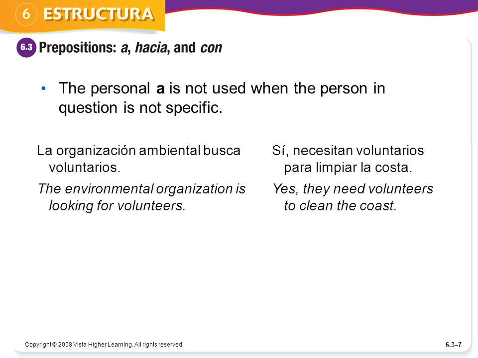 The personal a is not used when the person in question is not specific.