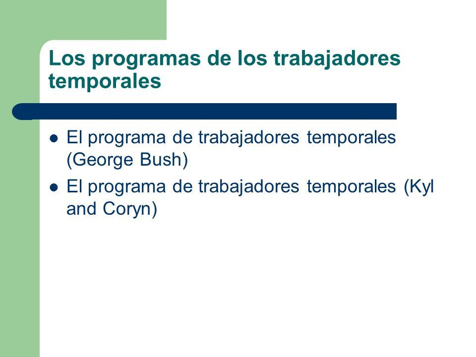 Los programas de los trabajadores temporales
