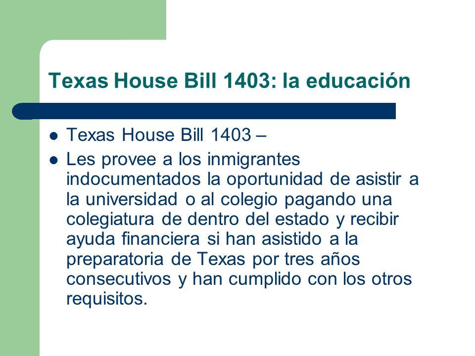 Texas House Bill 1403: la educación