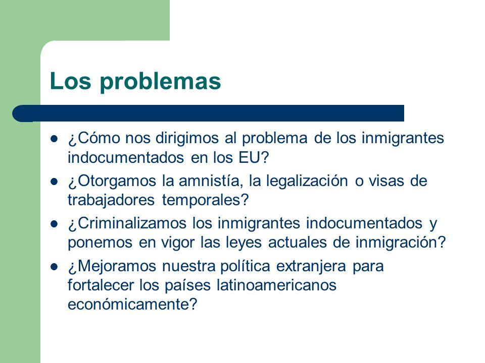 Los problemas ¿Cómo nos dirigimos al problema de los inmigrantes indocumentados en los EU