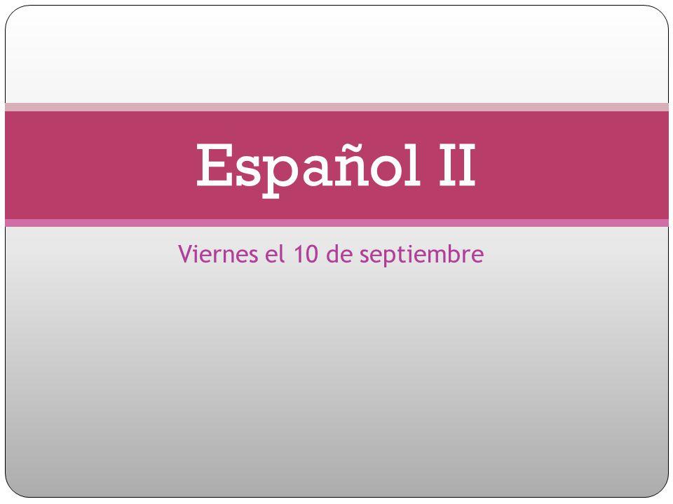Viernes el 10 de septiembre