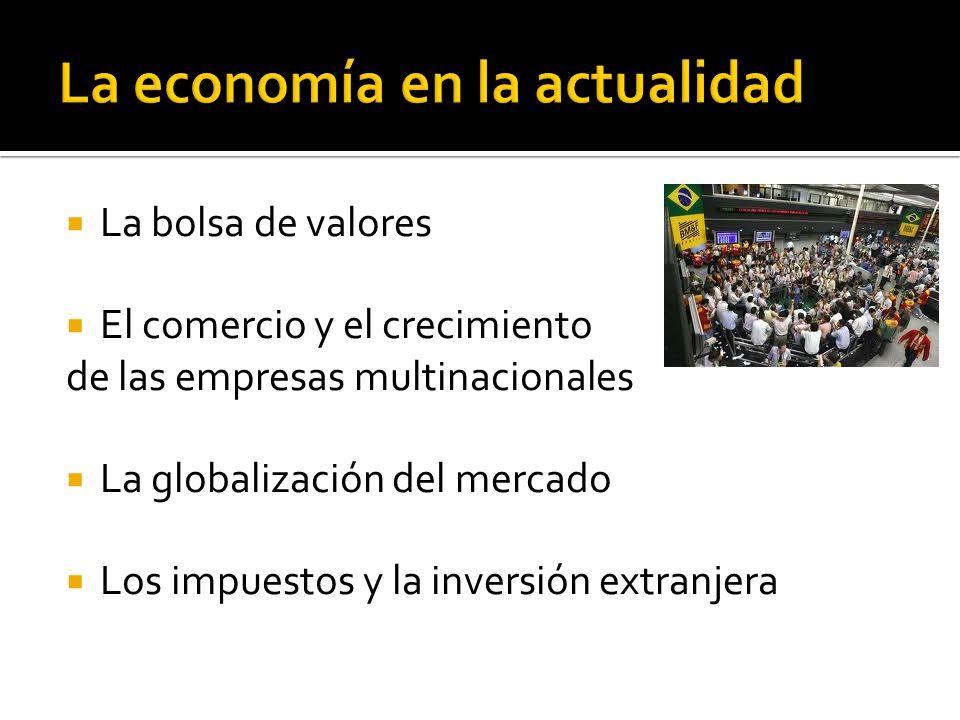 La economía en la actualidad