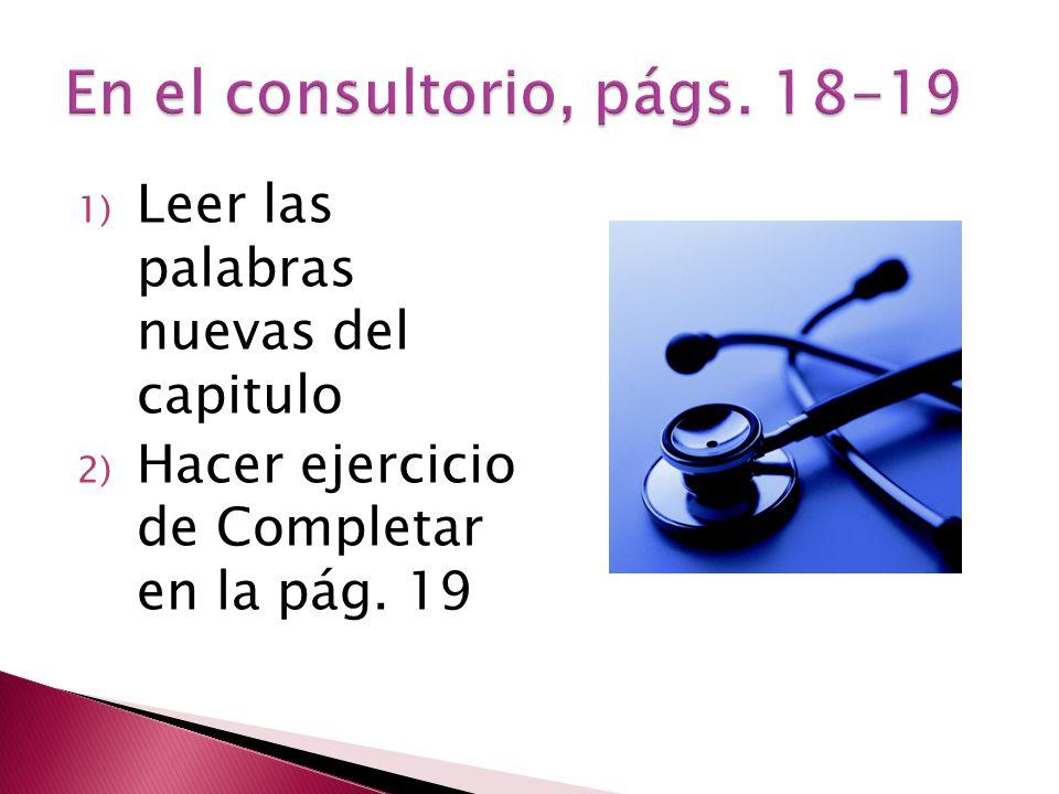 En el consultorio, págs. 18-19