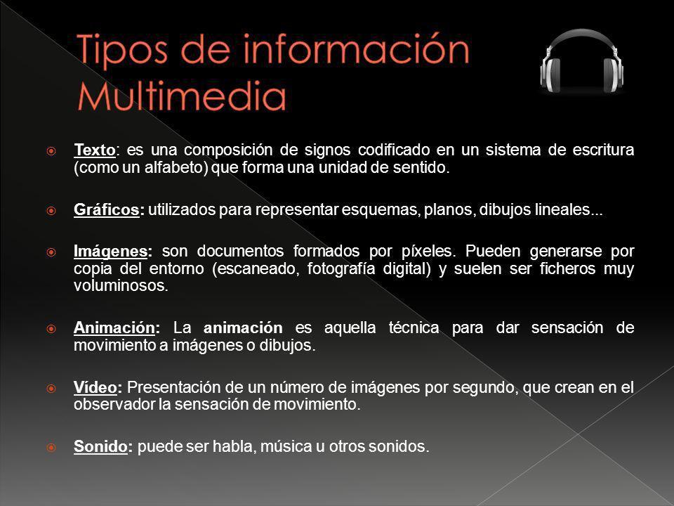 Tipos de información Multimedia