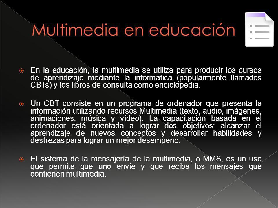 Multimedia en educación