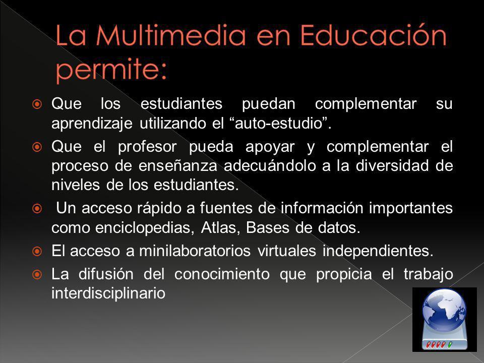 La Multimedia en Educación permite: