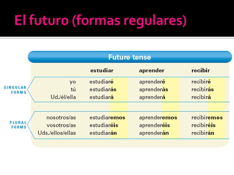 El futuro (formas regulares)