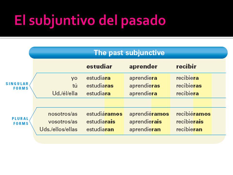 El subjuntivo del pasado