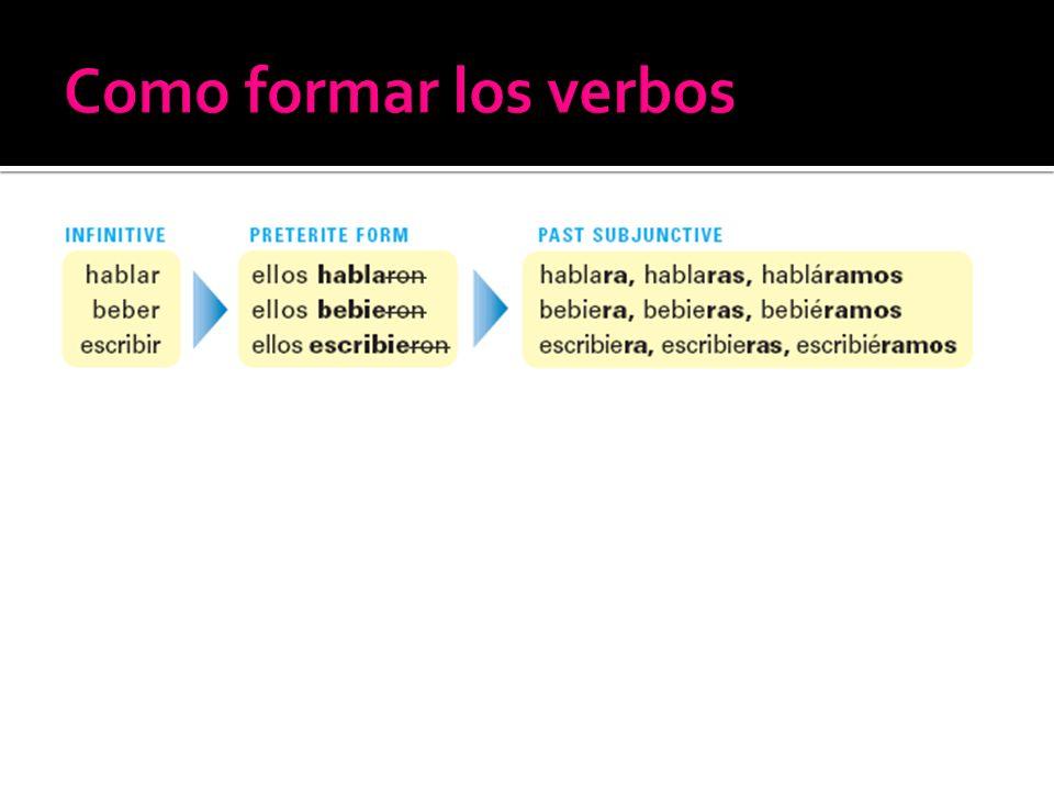 Como formar los verbos