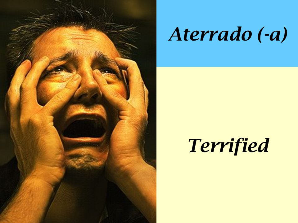 Aterrado (-a) Terrified