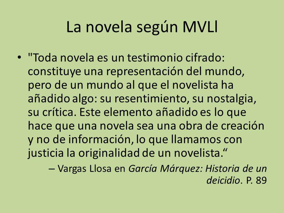 La novela según MVLl