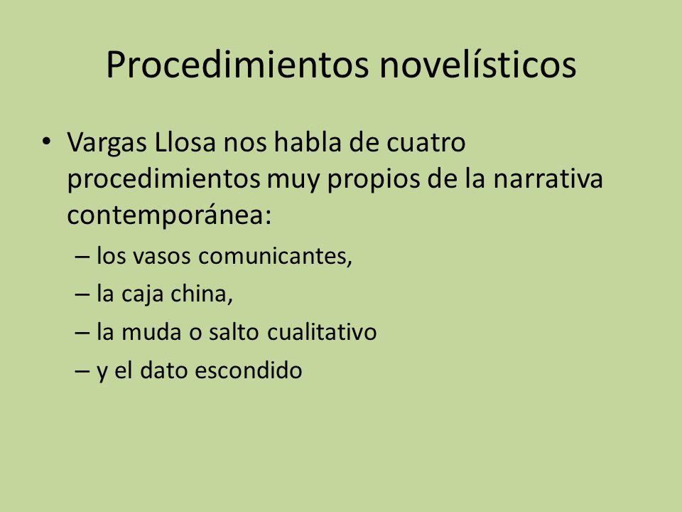 Procedimientos novelísticos