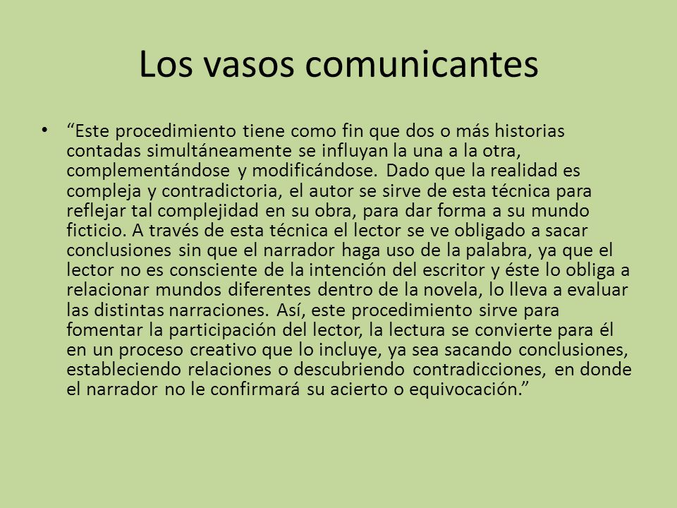 Los vasos comunicantes