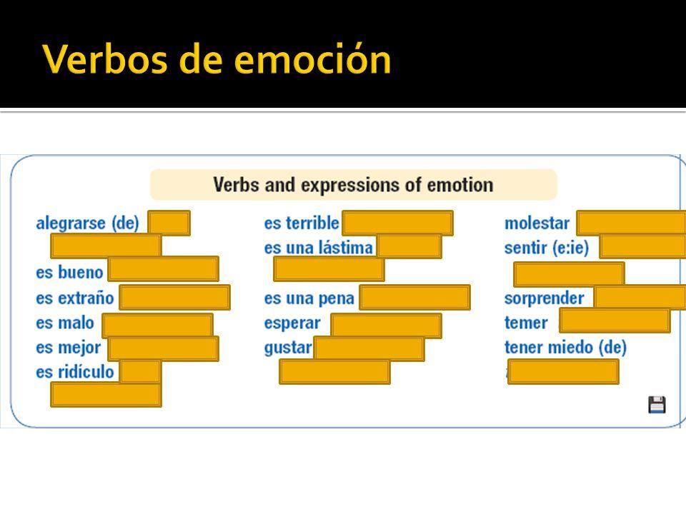 Verbos de emoción
