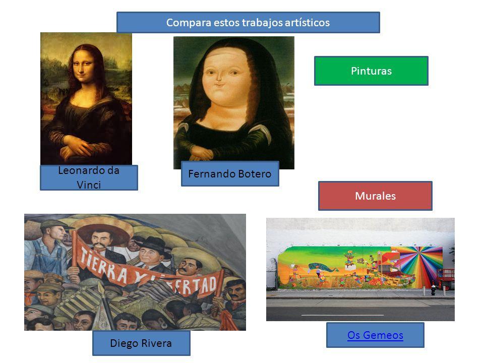 Compara estos trabajos artísticos