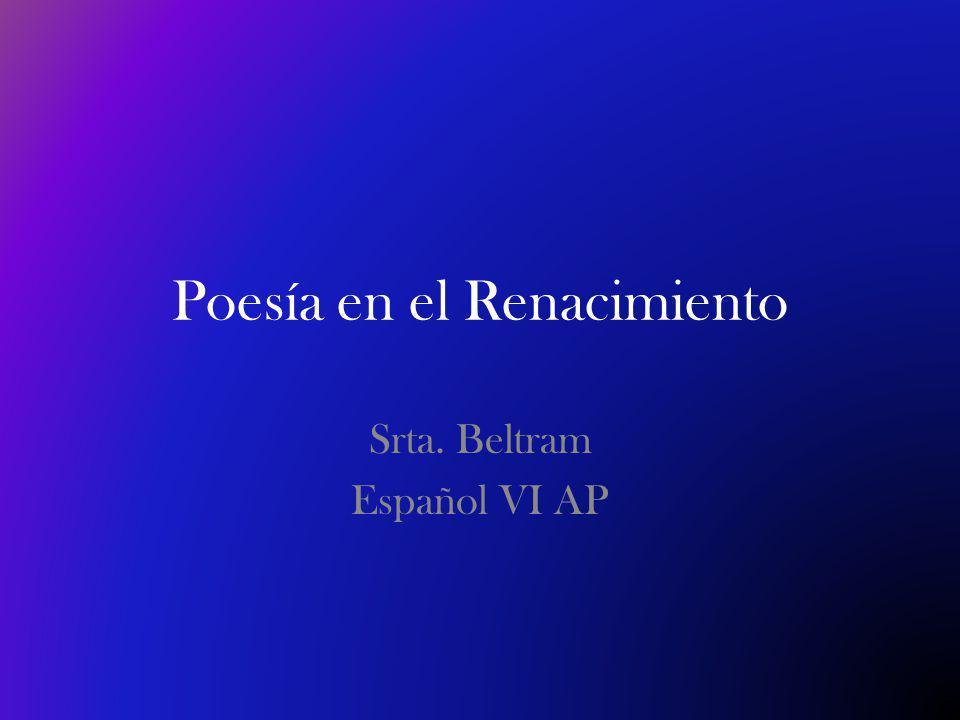 Poesía en el Renacimiento