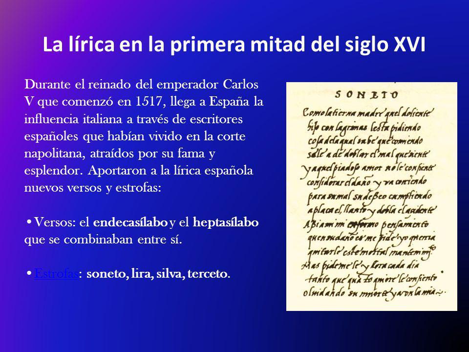 La lírica en la primera mitad del siglo XVI