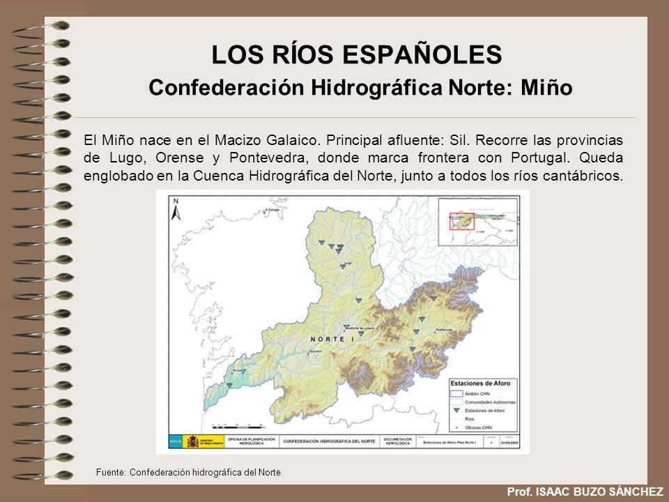 LOS RÍOS ESPAÑOLES Confederación Hidrográfica Norte: Miño