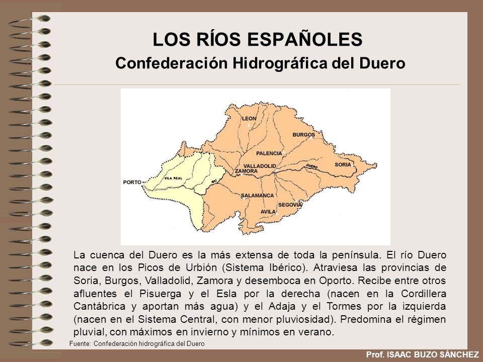LOS RÍOS ESPAÑOLES Confederación Hidrográfica del Duero