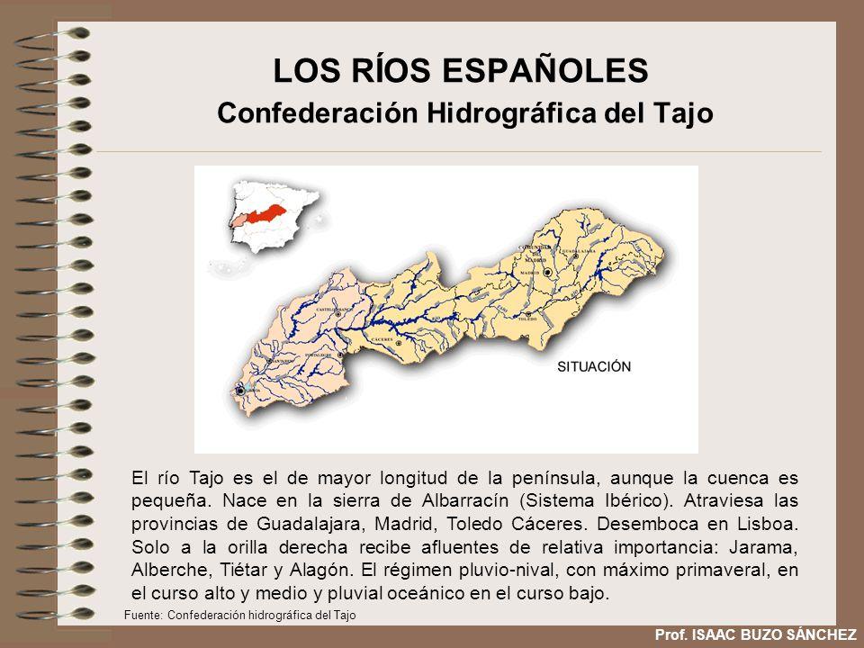 LOS RÍOS ESPAÑOLES Confederación Hidrográfica del Tajo