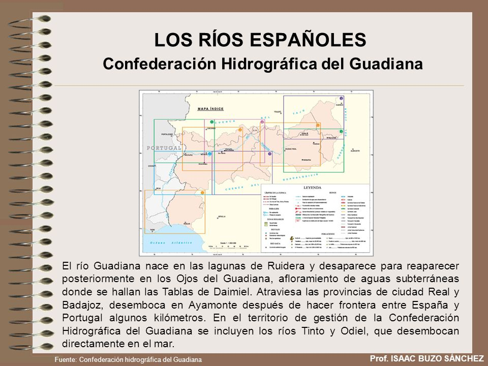 LOS RÍOS ESPAÑOLES Confederación Hidrográfica del Guadiana