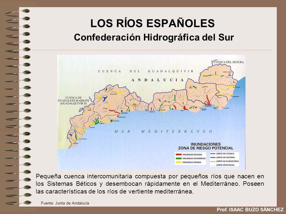LOS RÍOS ESPAÑOLES Confederación Hidrográfica del Sur