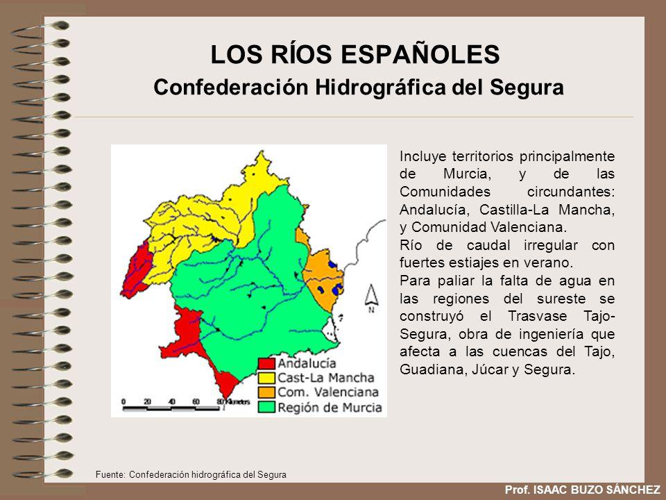 LOS RÍOS ESPAÑOLES Confederación Hidrográfica del Segura