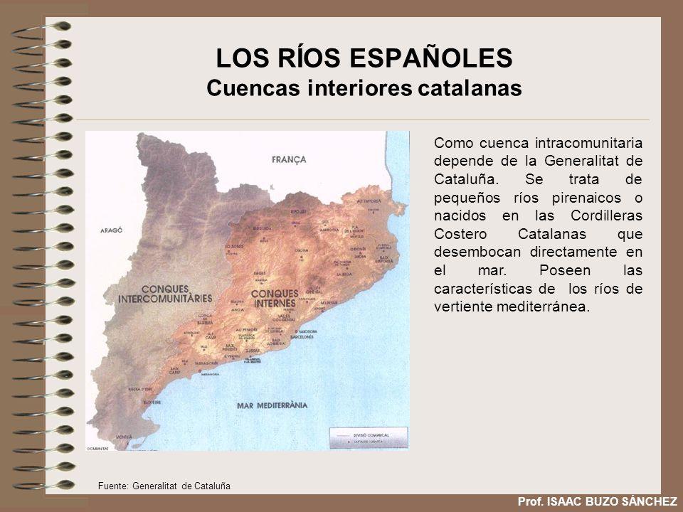 LOS RÍOS ESPAÑOLES Cuencas interiores catalanas