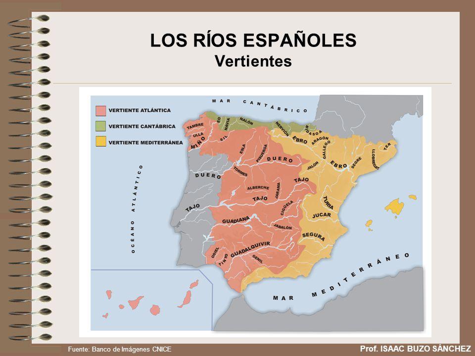 LOS RÍOS ESPAÑOLES Vertientes