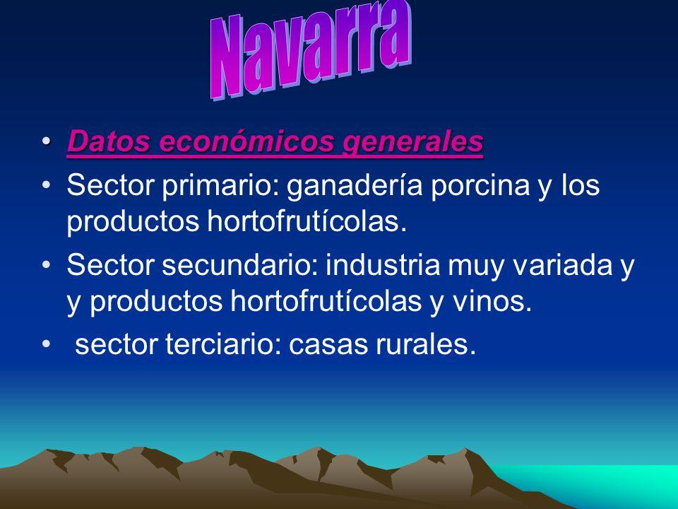 Navarra Datos económicos generales