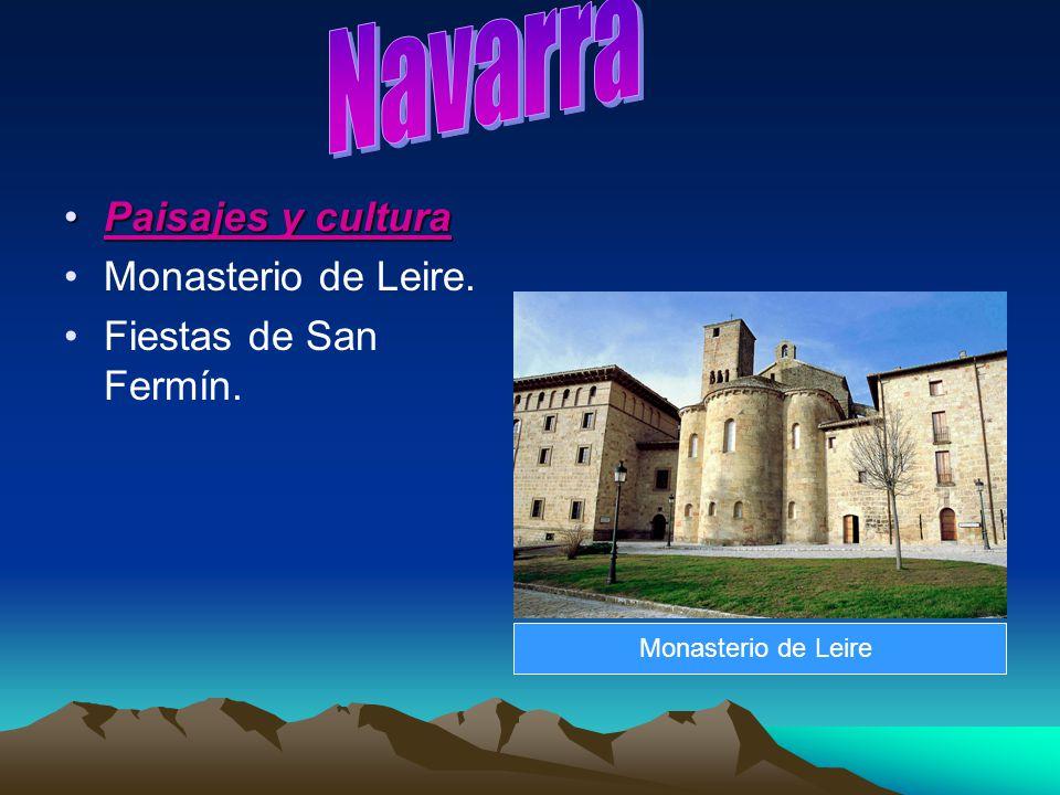 Navarra Paisajes y cultura Monasterio de Leire. Fiestas de San Fermín.