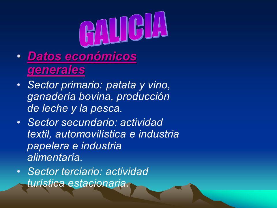GALICIA Datos económicos generales