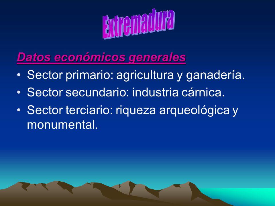 Extremadura Datos económicos generales