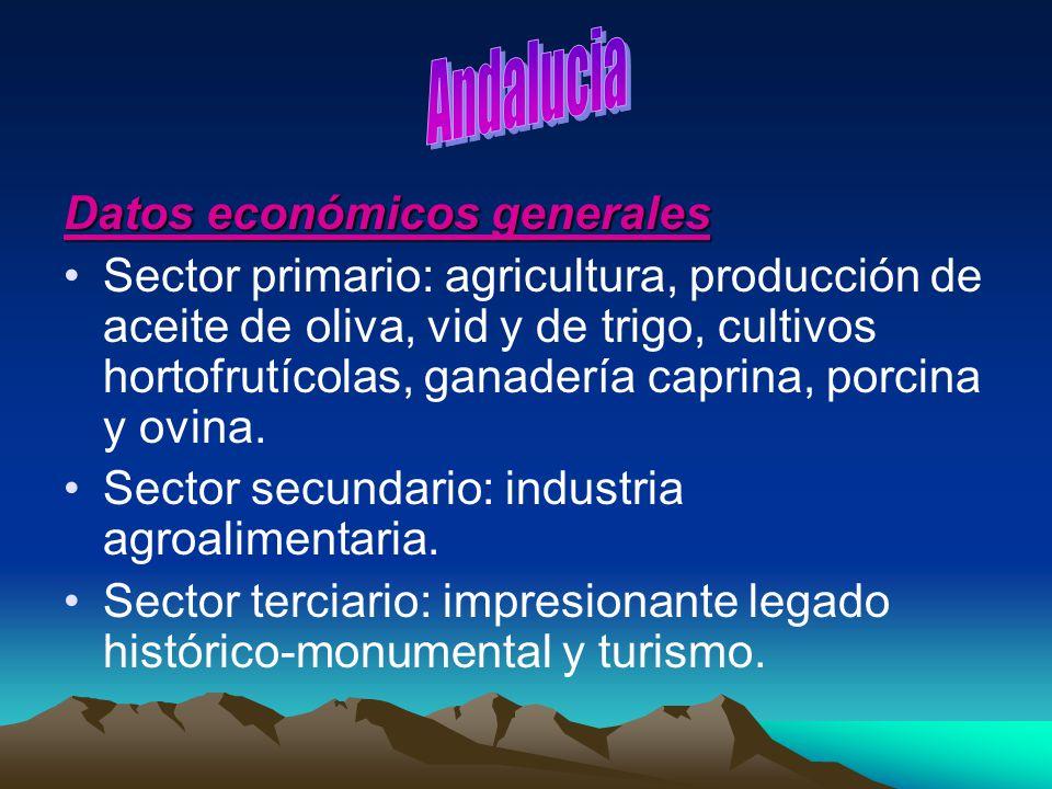 Andalucia Datos económicos generales