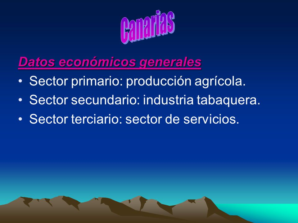 Canarias Datos económicos generales