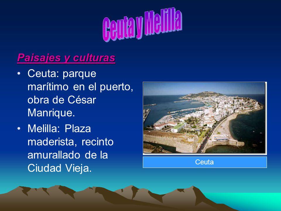 Ceuta y Melilla Paisajes y culturas