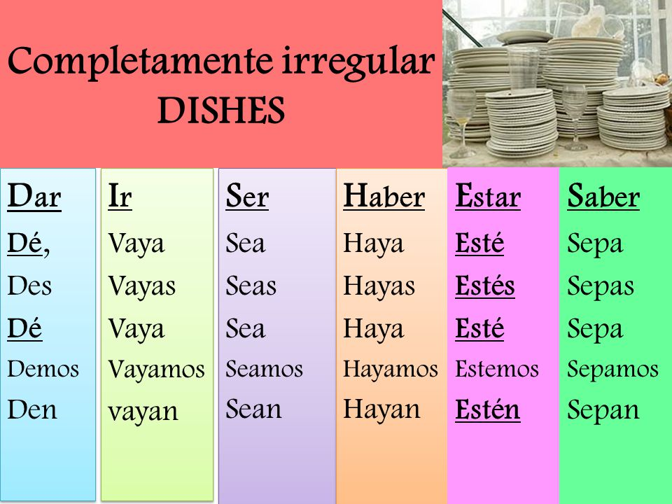 Completamente irregular DISHES