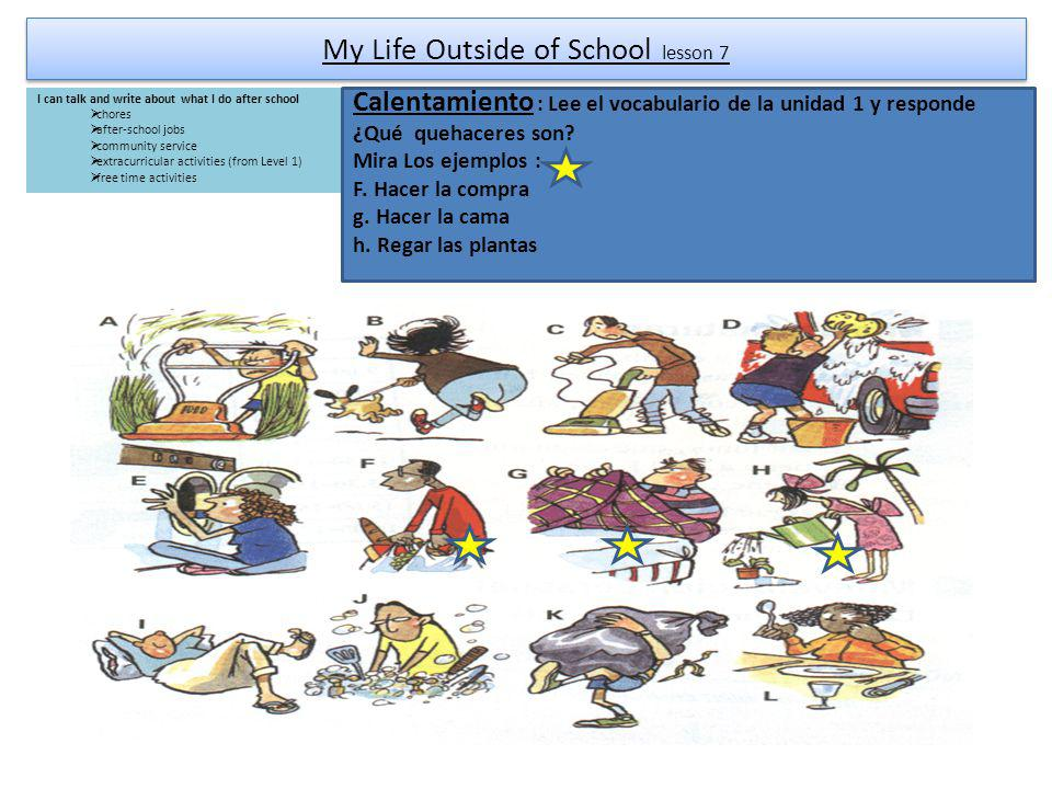 My Life Outside of School lesson 7