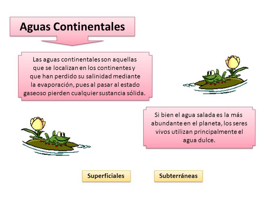 Aguas Continentales Las aguas continentales son aquellas