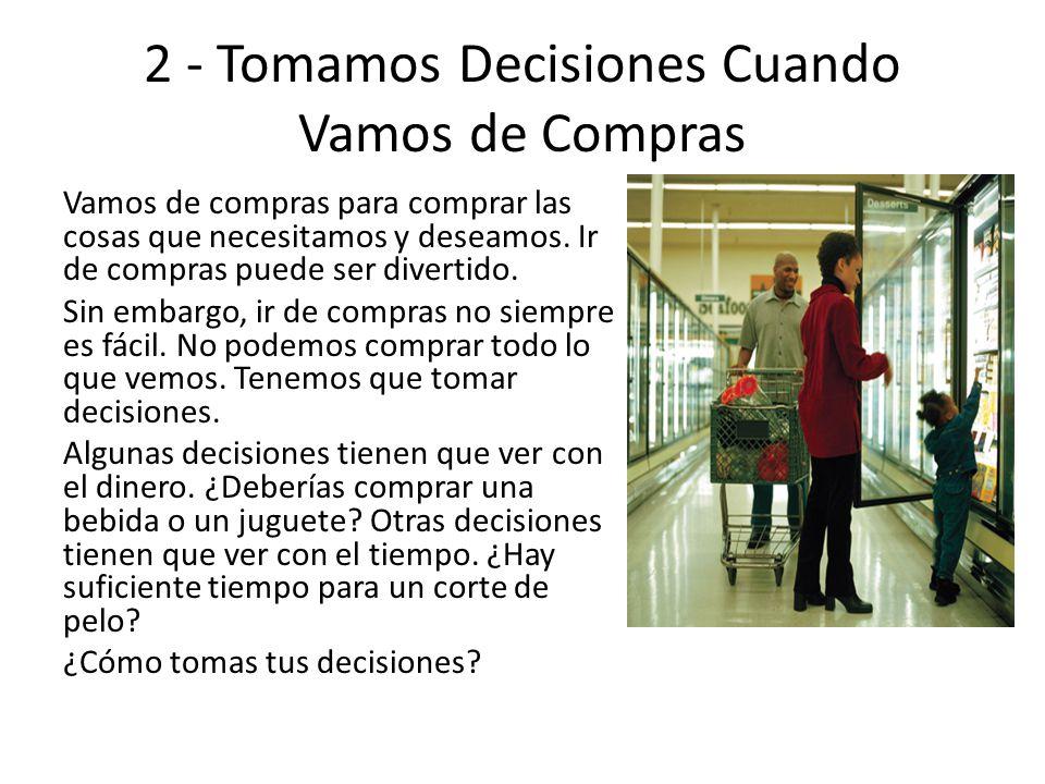 2 - Tomamos Decisiones Cuando Vamos de Compras