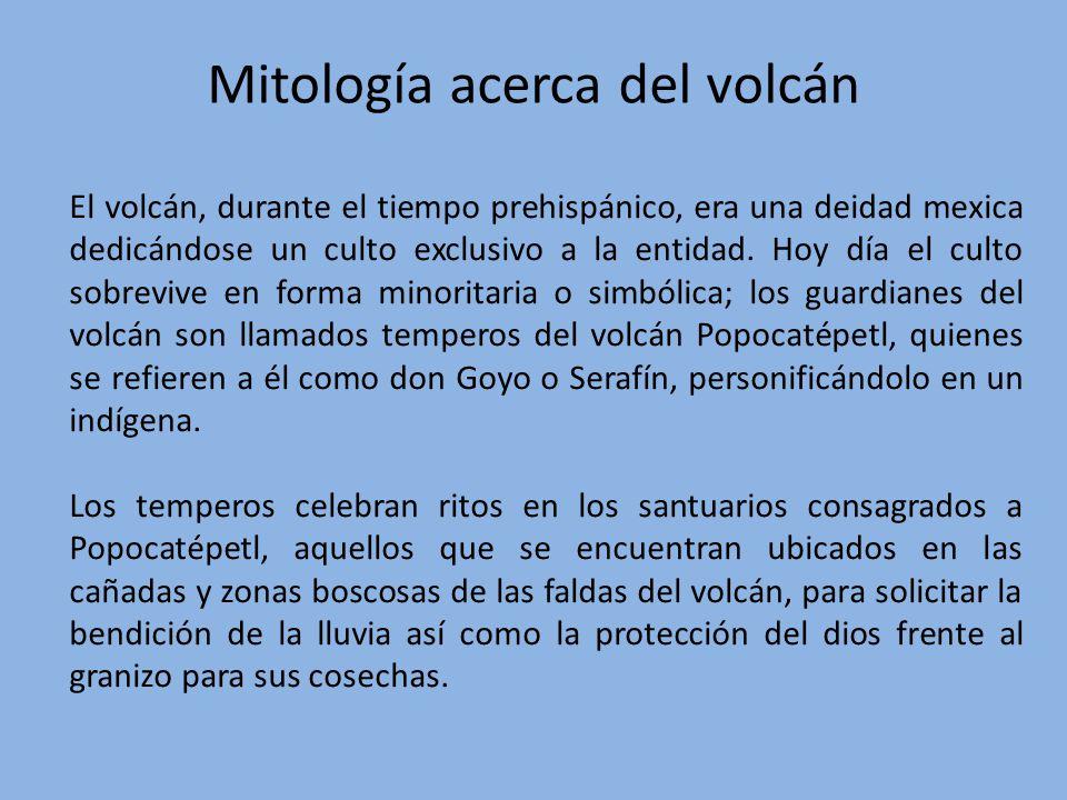Mitología acerca del volcán